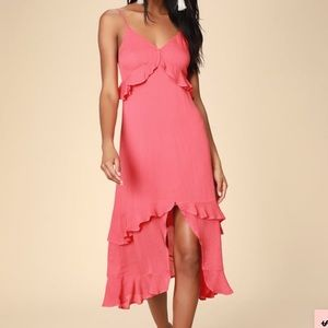 Lulus brand new midi dress